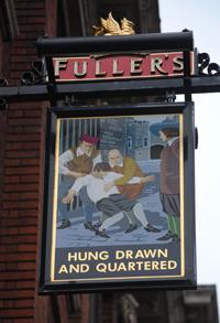 london pub signs the hung drawn and quartered exploring london