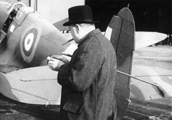 Churchill-with-a-Spitfire-from-Castle-Bromwich,-credit-Philip-Insley,-CBAF-Archive-Vickers-ArchiveSyndics