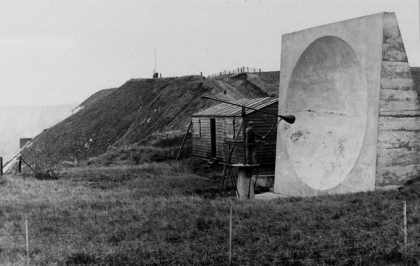 Example-of-sound-mirror-in-use,-Abbots-Cliff-near-White-Cliffs-of-Dover---Crown-Copyright