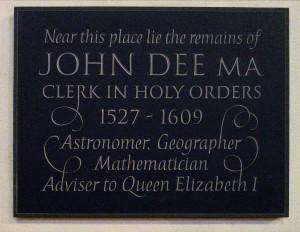 John_Dee_memorial_plaque_at_S_Mary_the_Virgin_Mortlake