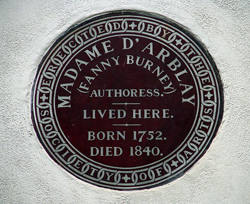 Fanny-Burney-plaque